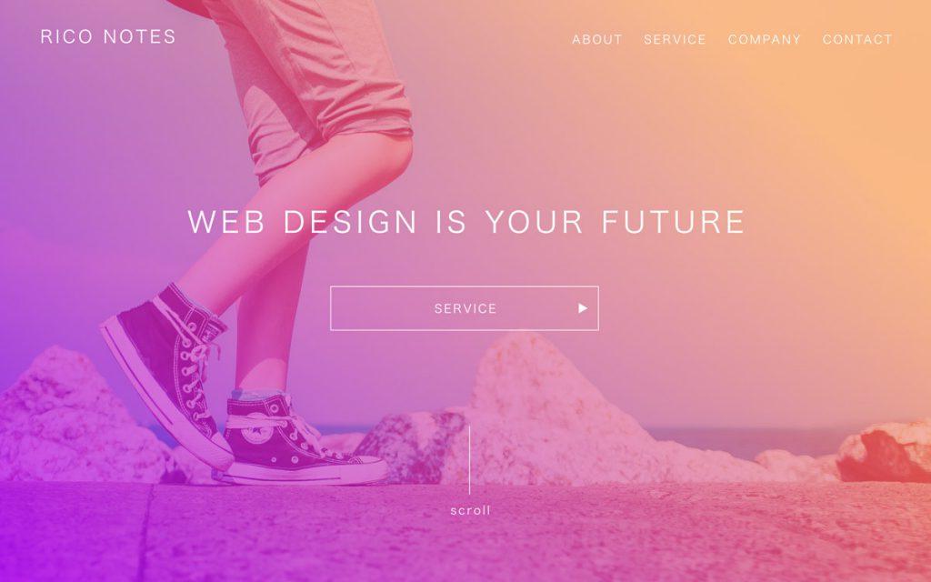 Adobe XDのグラデーションを活用したデザイン