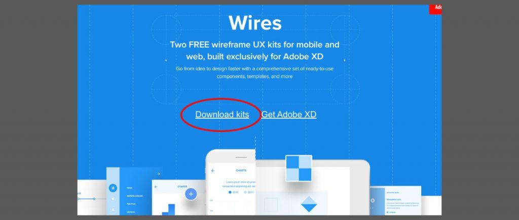 UIキット(テンプレート)Wiresのダウンロードリンク